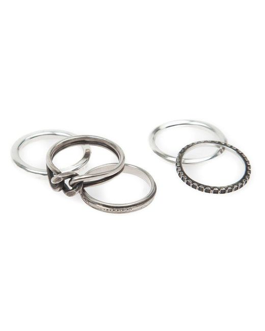 Werkstatt:münchen | Metallic Werkstatt:münchen Stacked Rings for Men | Lyst