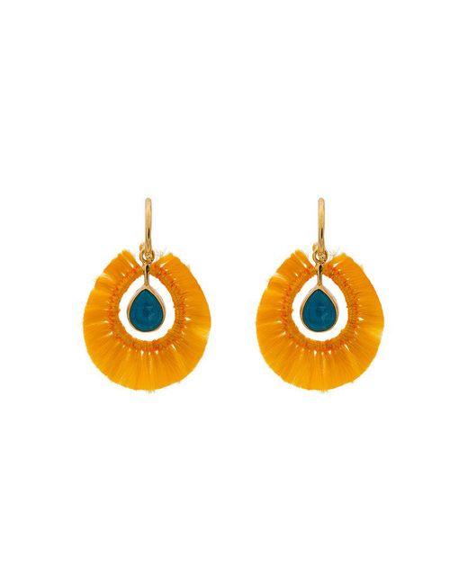 Katerina Makriyianni | Multicolor Yellow Fringed Gold Vermeil Apatite Earrings | Lyst