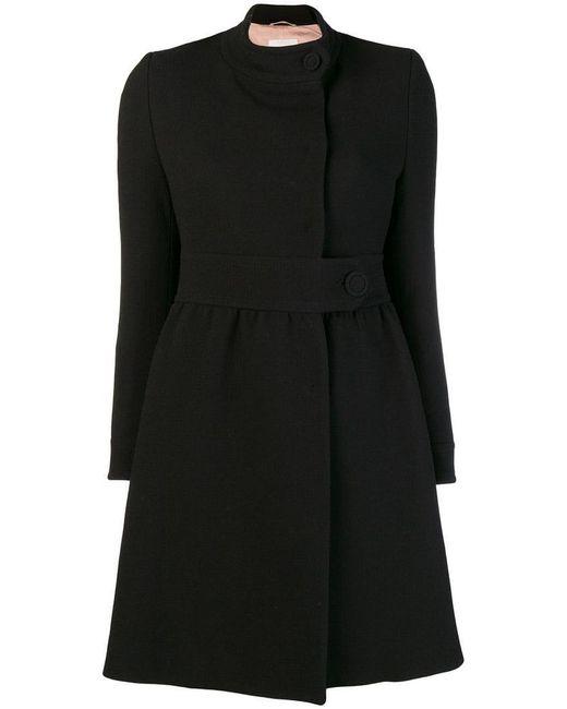 L'Autre Chose - Black Front Button Coat - Lyst