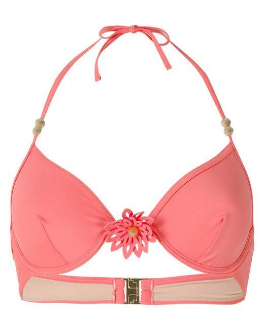 Marlies Dekkers - Pink La Flor Plunge Bikini Top - Lyst