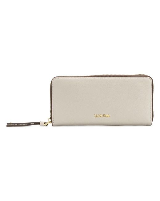 CALVIN KLEIN 205W39NYC - Gray Continental Wallet - Lyst