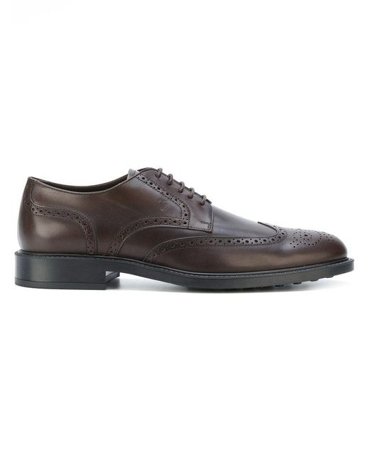 Tod's - Brown Brogue Shoes for Men - Lyst
