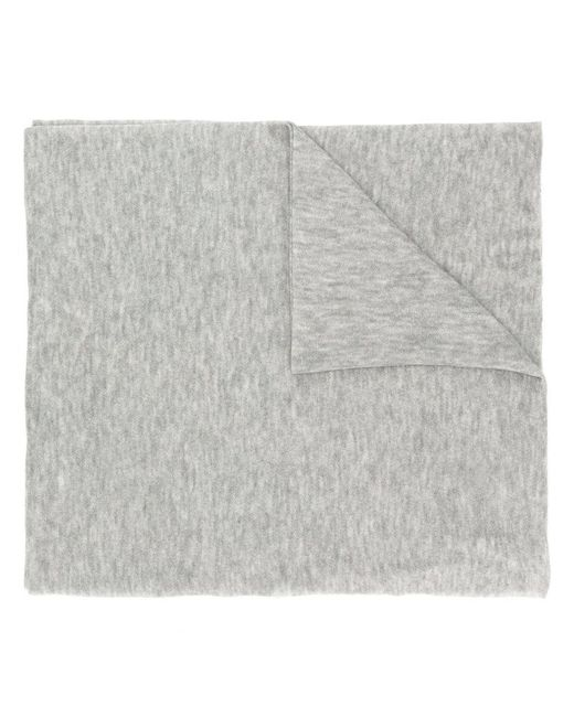 Faliero Sarti - Gray Classic Knitted Scarf - Lyst
