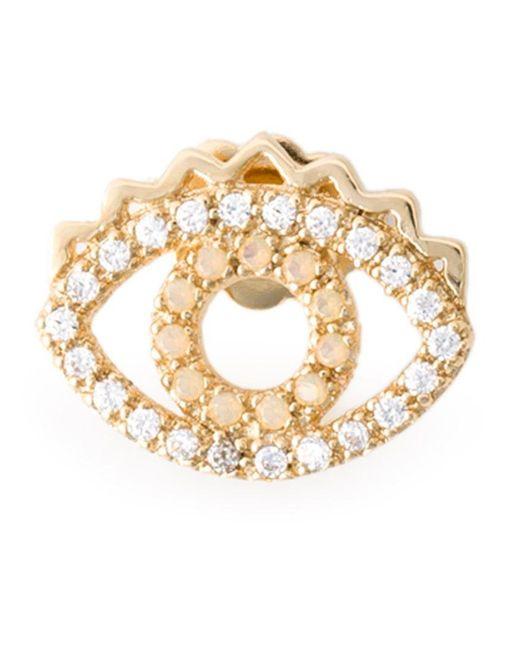 KENZO   Metallic 'eye' Earrings   Lyst