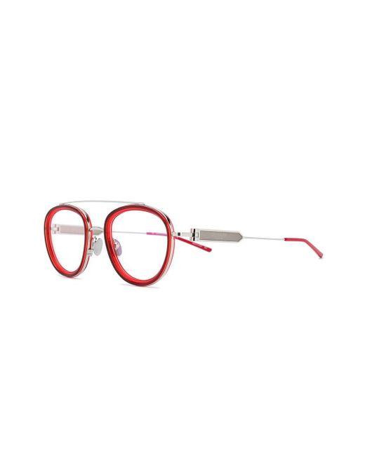 dd49948af ... CALVIN KLEIN 205W39NYC - Red Round Frame Glasses - Lyst ...