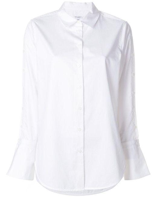 Equipment - White Curved Hem Shirt - Lyst
