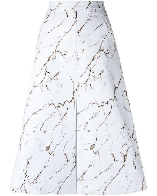Andrea Marques - White All-over Print Skirt - Lyst