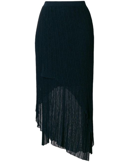 Christian Wijnants - Blue Asymmetric Shift Skirt - Lyst