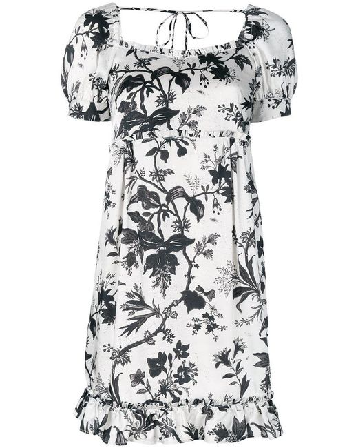 McQ Alexander McQueen | White Floral Embroidered Dress | Lyst