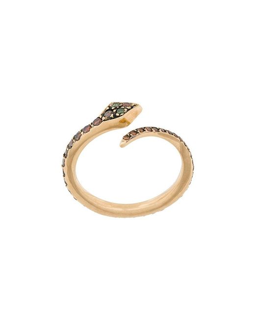 Ileana Makri - Metallic Big Snake Ring - Lyst