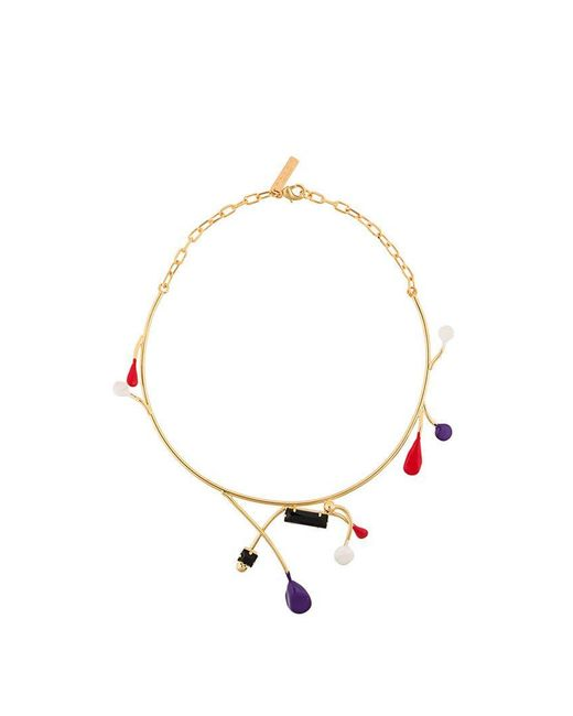 Marni - Metallic Enamel Detail Necklace - Lyst