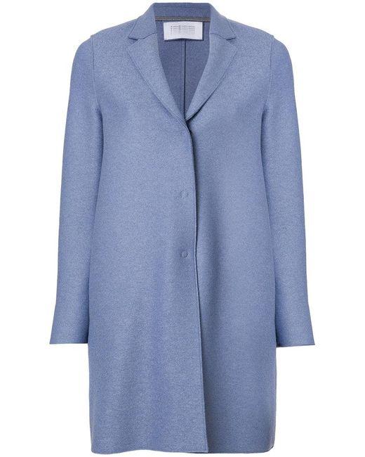 Harris Wharf London - Blue Single Breasted Coat - Lyst
