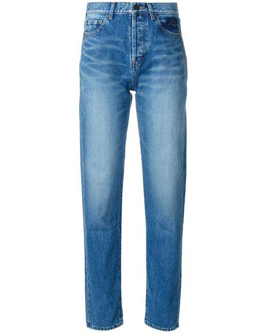 Saint Laurent | Blue Tapered Slim Fit Jeans | Lyst