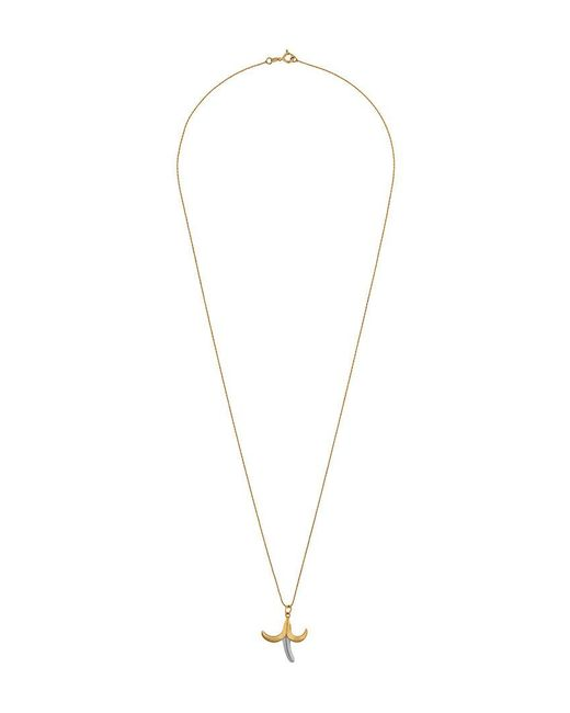 True Rocks - Metallic Banana Pendant Necklace - Lyst