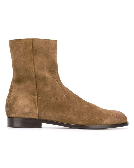 Buttero - Brown Side Zip Ankle Boots for Men - Lyst