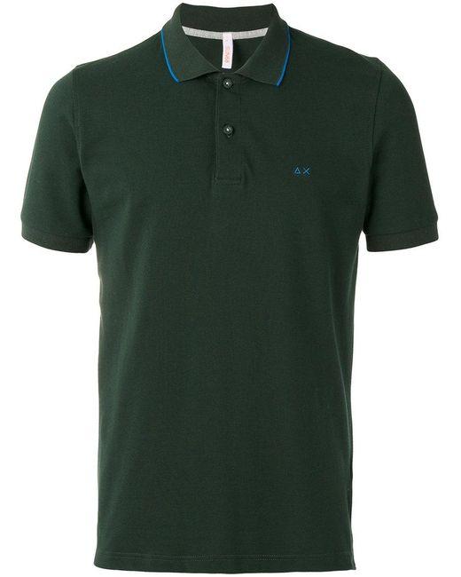 Sun 68 - Green Contrast Collar Polo Shirt for Men - Lyst