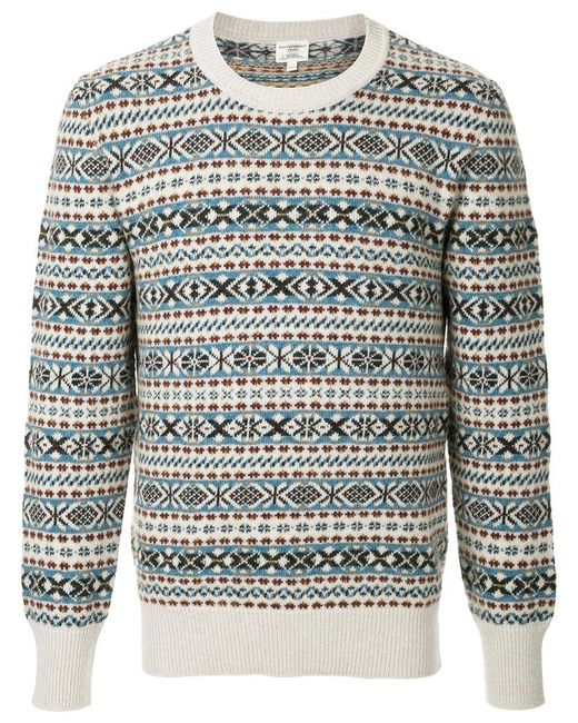 Lyst Kent Curwen Pattern Knit Jumper For Men