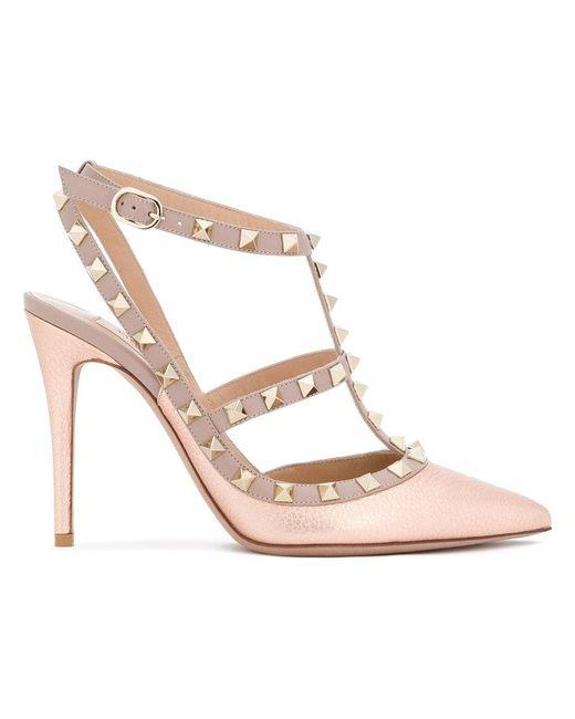 Valentino - Pink Garavani Rockstud Ankle Strap Pumps - Lyst