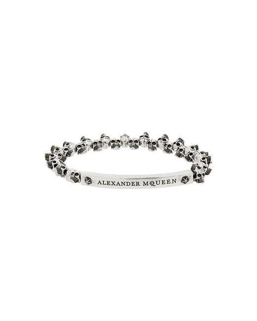 Alexander McQueen - Metallic Silver Mini Skull Bracelet for Men - Lyst