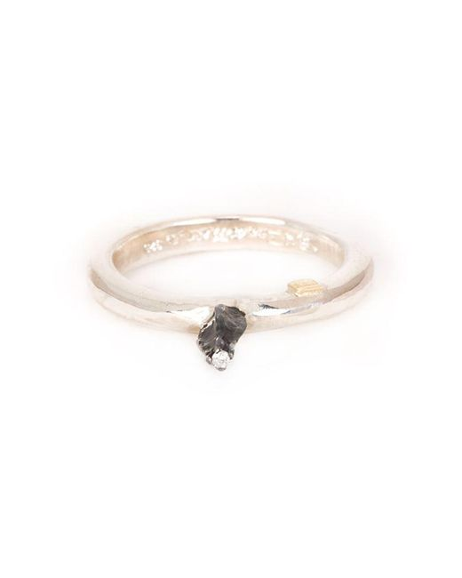 Rosa Maria | Metallic Solitaire Diamond Ring | Lyst