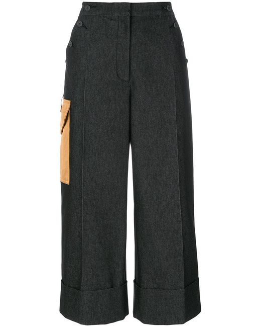 Marco De Vincenzo - Black Side Pocket Culottes - Lyst