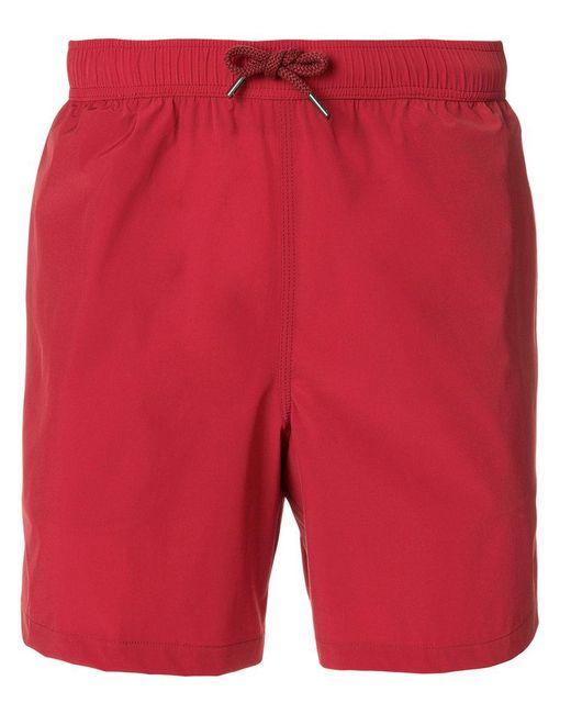Aspesi - Red Plain Swim Trunks for Men - Lyst