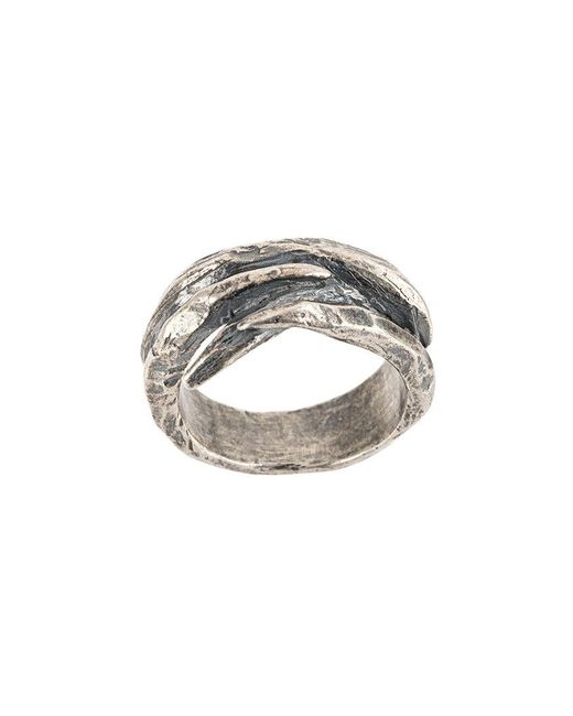 Tobias Wistisen - Metallic Twisted Ring for Men - Lyst