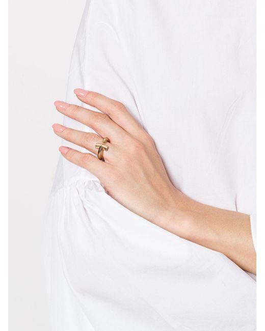 Stephen Webster 18kt yellow gold Hammerhead diamond ring - Metallic STufUJo6gP