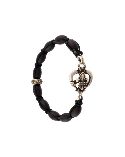 Roman Paul - Black Charm Bracelet for Men - Lyst