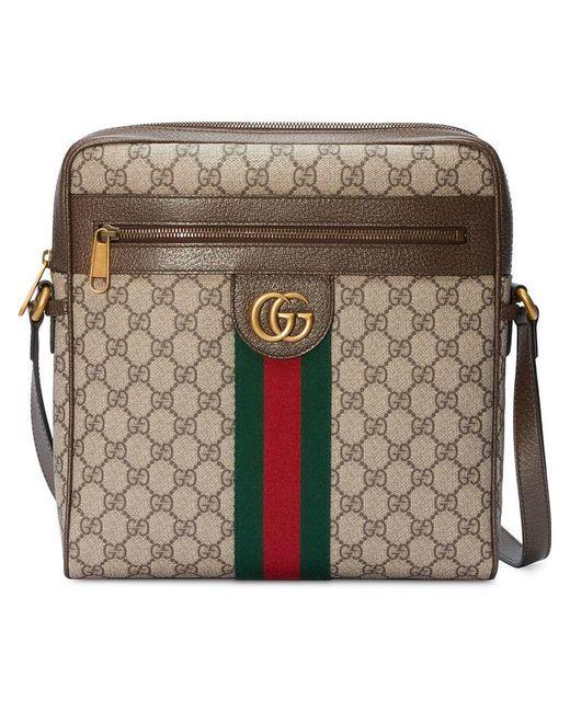 2d973e8bf0ad Gucci - Multicolor Ophidia GG Medium Messenger Bag for Men - Lyst ...