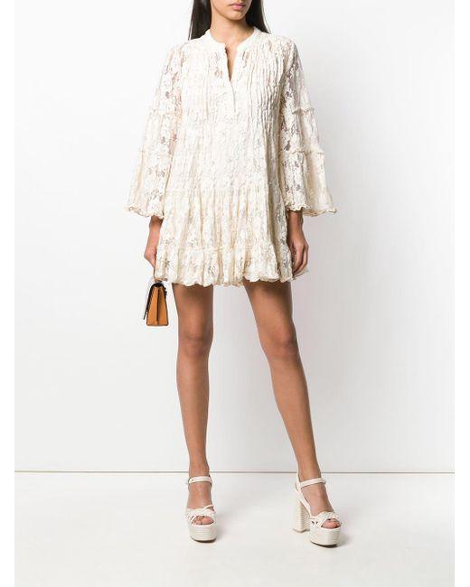 d963411de7ad5 ... Alexis - Natural Beaded Lace Dress - Lyst ...