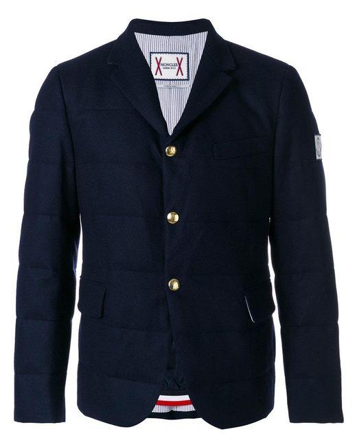Moncler - Blue Flap Pockets Padded Jacket for Men - Lyst