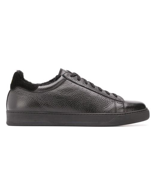 Henderson - Black Alec Contrast Heel Counter Sneakers for Men - Lyst