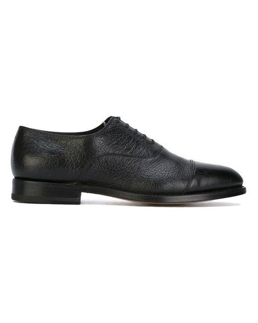 Santoni   Black Lace-up Shoes for Men   Lyst