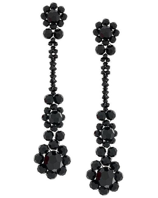 Simone Rocha - Black Crystal Beaded Drop Earrings - Lyst