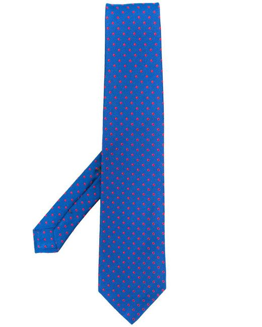 Etro - Blue Embroidered Polka-dot Tie for Men - Lyst