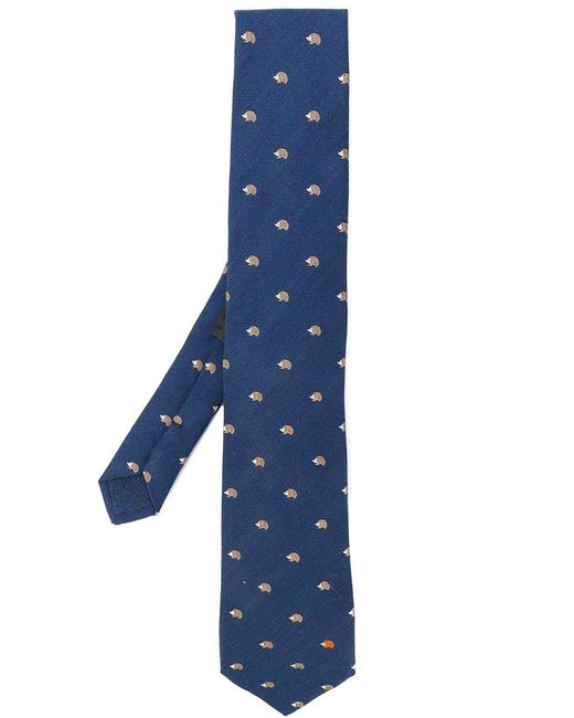Etro | Blue Hedgehog Tie for Men | Lyst