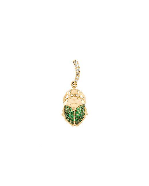 Aurelie Bidermann - Metallic Mini Scarab Tsavorite And Diamond Pendant - Lyst
