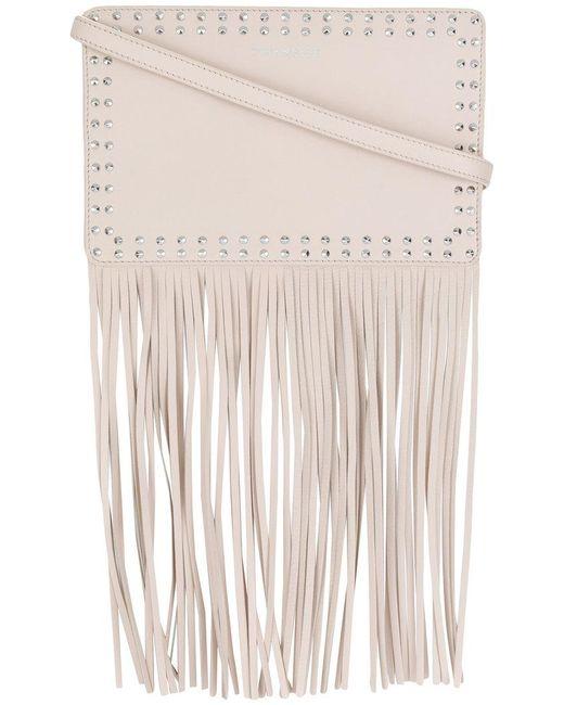 Twin Set - Multicolor Studded Fringed Shoulder Bag - Lyst