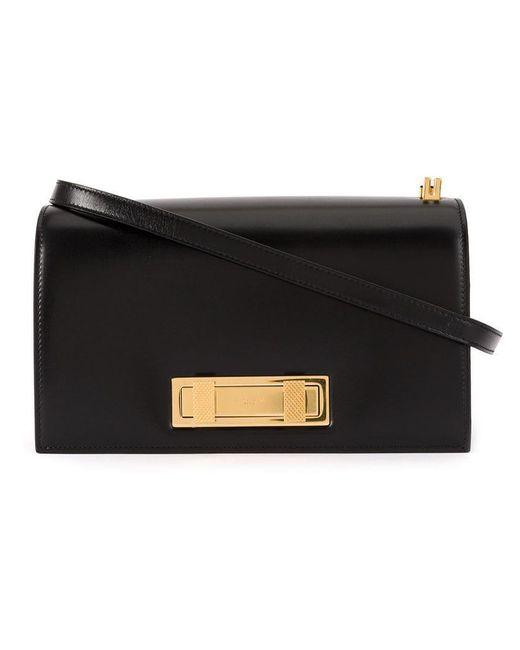 Saint Laurent - Black Domino Medium Shoulder Bag - Lyst