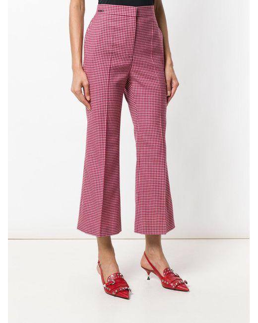 Red Fendi Lyst Plaid cortos pantalones qY11znBU