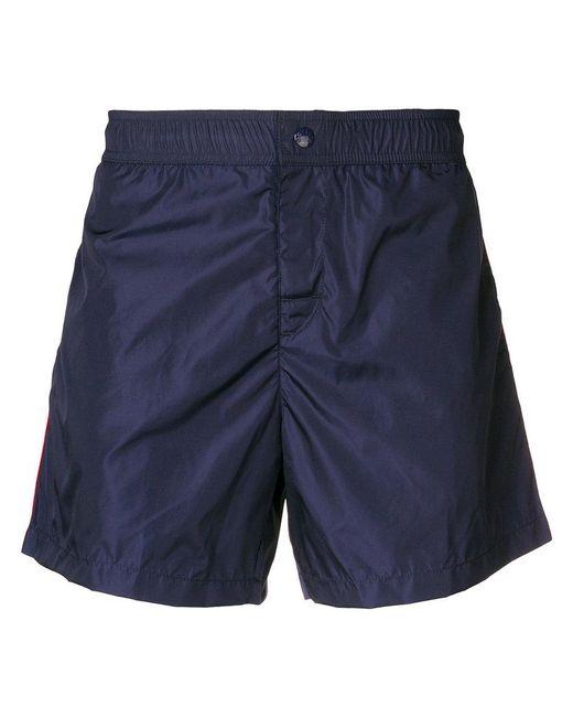 2e7d5eaf0ce0 Lyst - Moncler Side Stripe Swim Shorts in Blue for Men