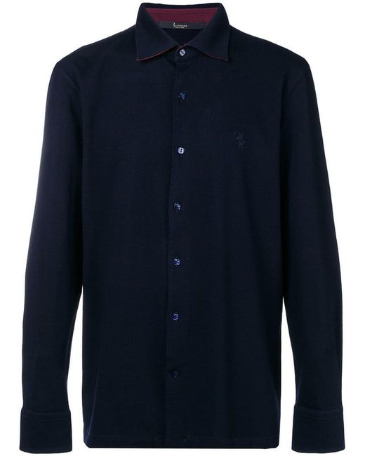 Billionaire - Blue 'chris' Shirt for Men - Lyst