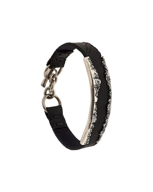 Tobias Wistisen | Black Bracciale Di Pelle for Men | Lyst