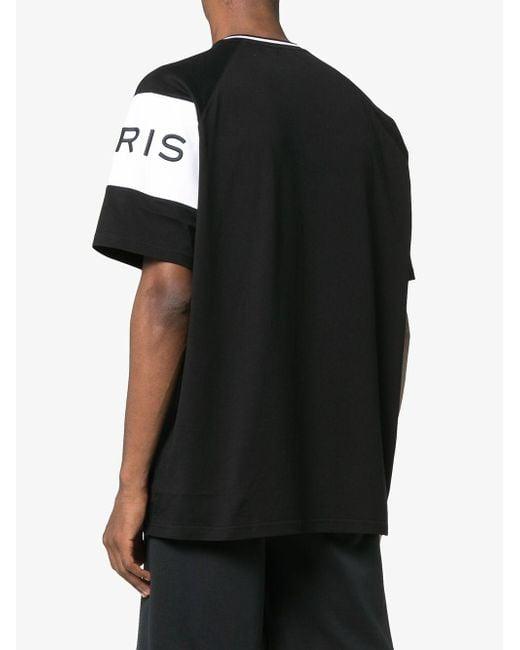 3e27d31b8cce ... Givenchy - Black Logo Paris Band 4g T-shirt for Men - Lyst