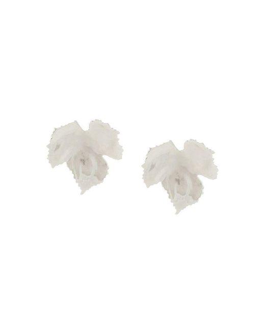Oscar de la Renta - Metallic Grape Leaf Earrings - Lyst