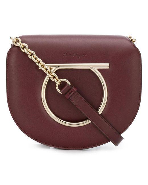 Ferragamo Gancini Flap Bag in Brown - Save 30.422794117647058% - Lyst 8beb7dc7bb2c1