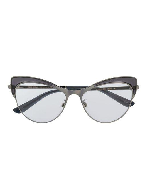 5e1095700cfb Dolce & Gabbana Wingtip Glasses in Gray - Lyst