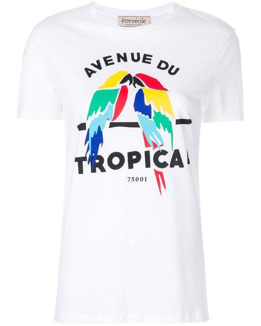 Être Cécile | White Avenue Du Tropical T-shirt | Lyst