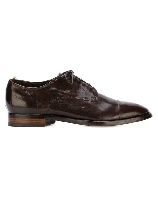 Officine Creative - Brown 'princeton' Derby Shoes for Men - Lyst